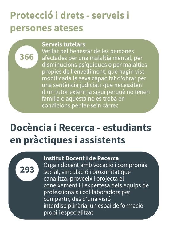 Protecció i drets / Docència i recerca - serveis i persones ateses